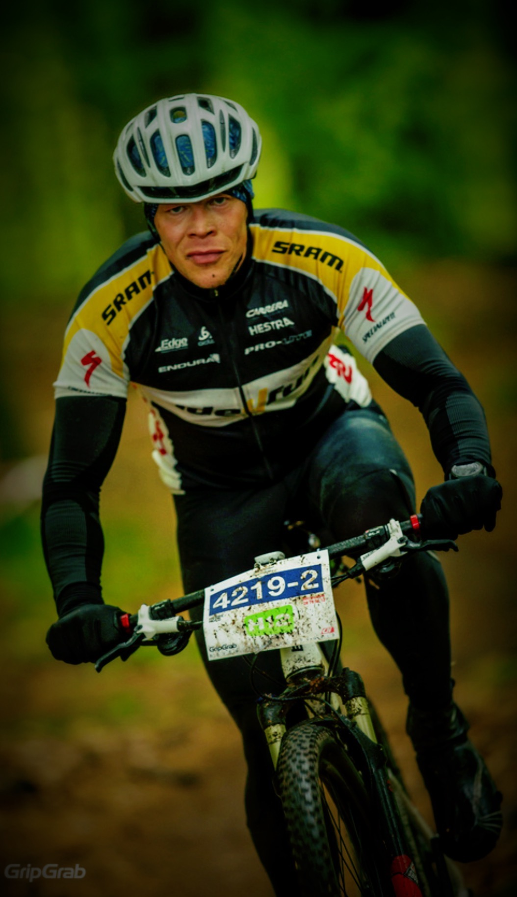 In action @ H12 MTB event